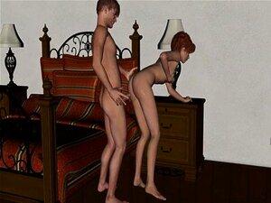 3D Anal soverom erotikk animasjon. Cum i rompe 01