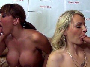Crazy pornostjerner Ava Devine og Natasha Starr i fantastiske store pupper, blonde voksen klipp, pornostjerner og profesjonelle cocksuckers, Ava Devine og Natasha Star, møte i denne runden av konkurranse å krone blowjob dronning i denne varme gruppe orals