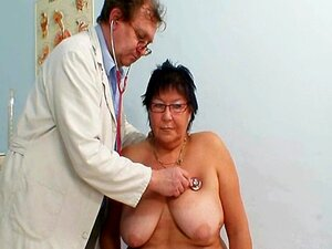 Eldre amatør kvinne rare gyno klinikk eksamen